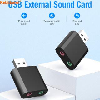 Kebidumei Tai Nghe Loa Micro Stereo Thẻ Âm Thanh USB Bên Ngoài, Giắc Cắm Âm Thanh Bộ Chuyển Đổi Cáp 3.5Mm Dành Cho Máy Tính Xách Tay PS4 thumbnail