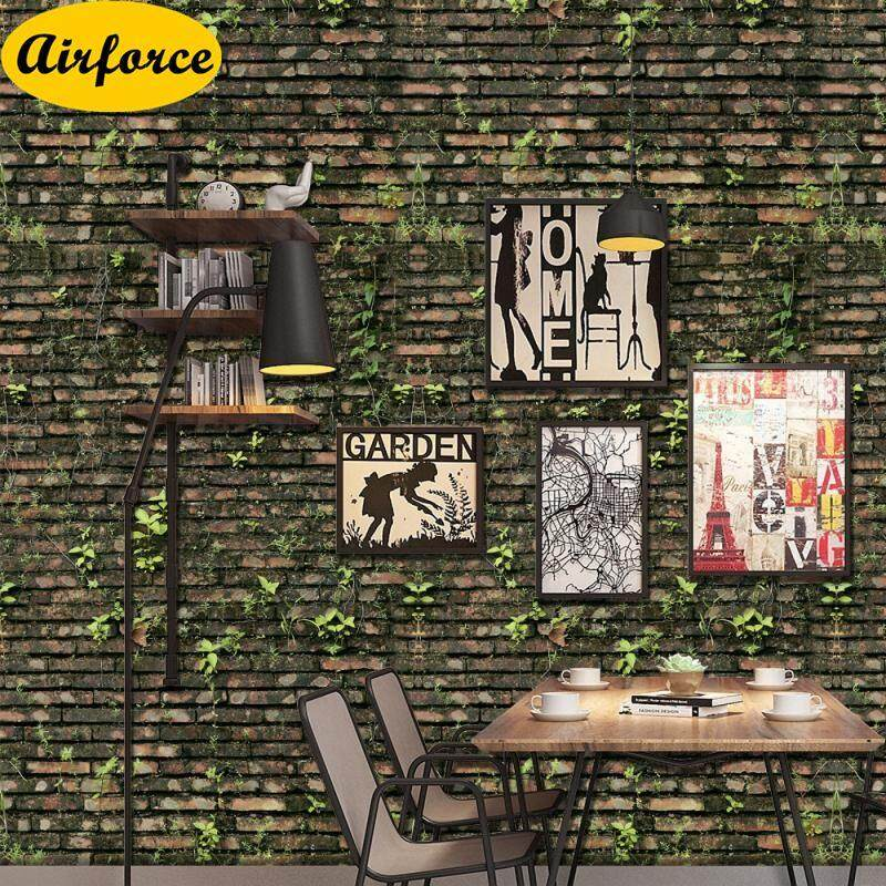 Airforce 1PC Creative Wall Paper Brick Stone Rustic Effect Self-adhesive Wall Sticker For Home Decor 40x320cm