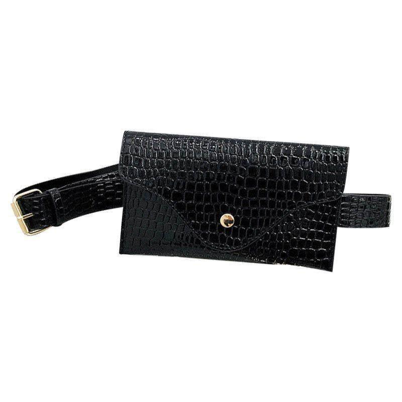 Belt Bag Women PU Leather Waist Pack Wallet Handbag Small Purse Phone Pouch (Black) ac31c272f0