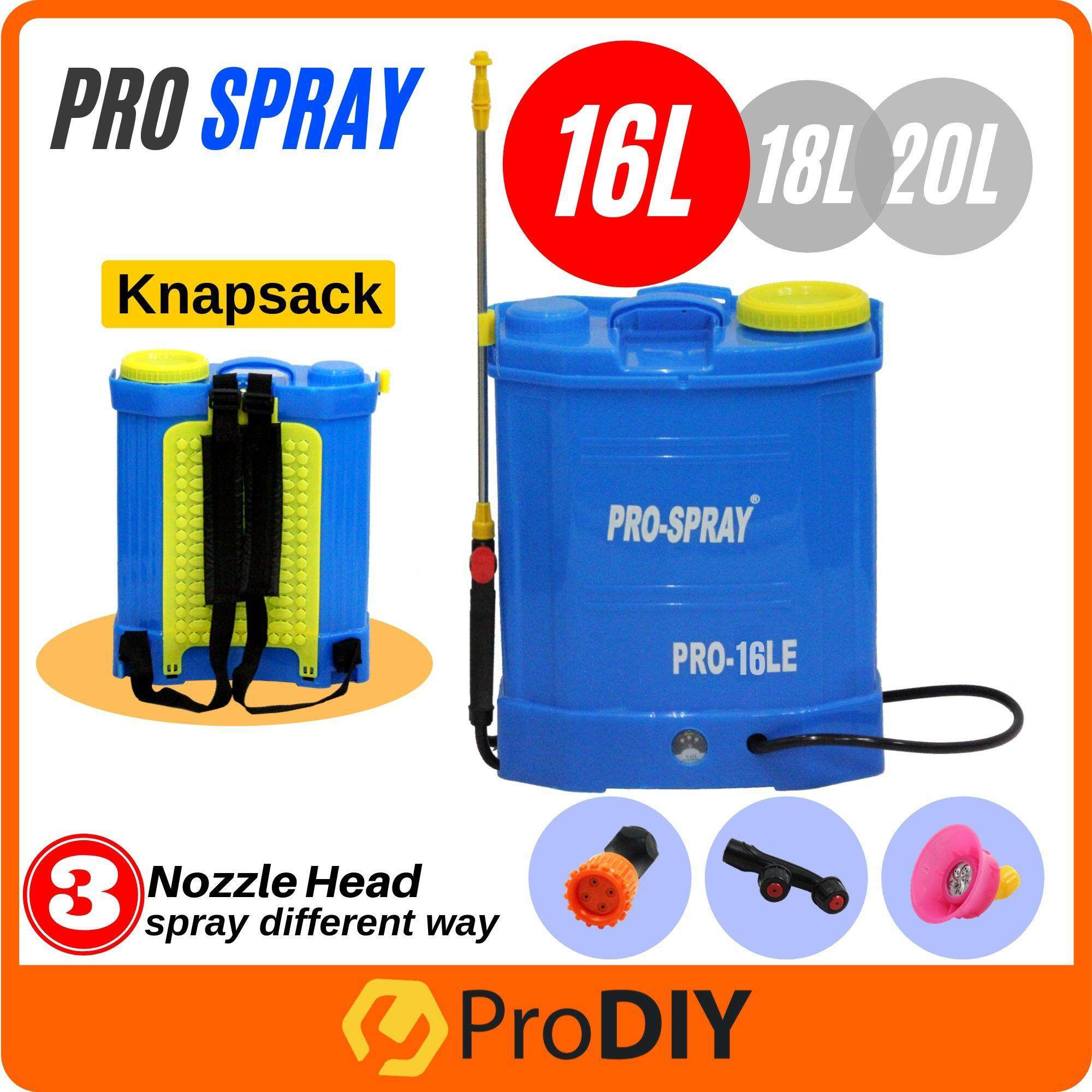 PRO-SPRAY Knapsack Chemical Sprayer Portable Rechargeable Battery Pam Racun 16L / 18L / 20L
