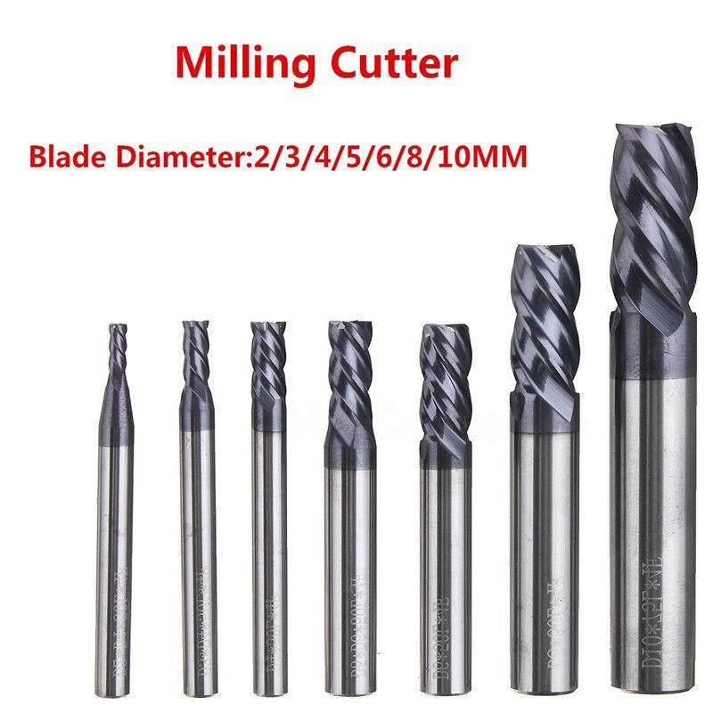 4mm HRC65° 4F 4 Flute Nano Tungsten Carbide End Mill Milling Cutter D4*10*50mm