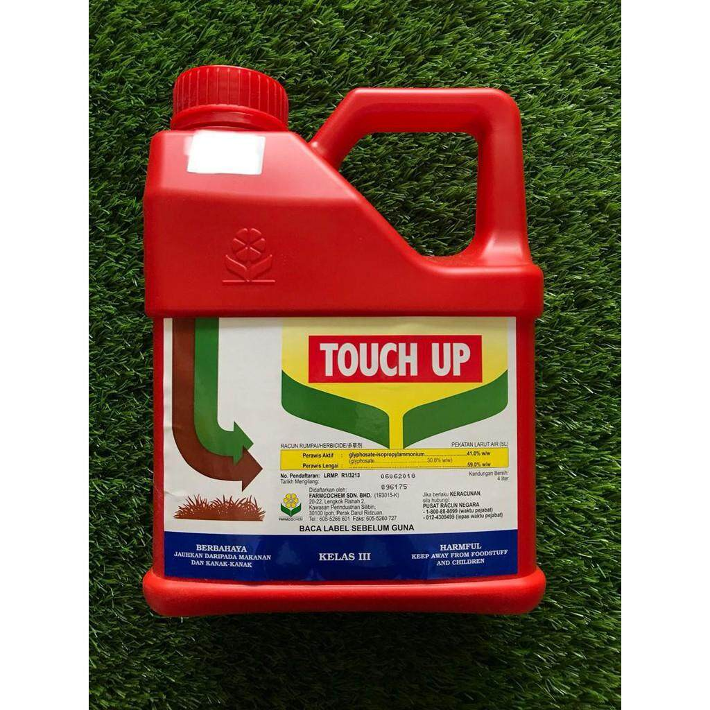 4L Touch Up Glyphosate 41% Herbicide Racun Rumput