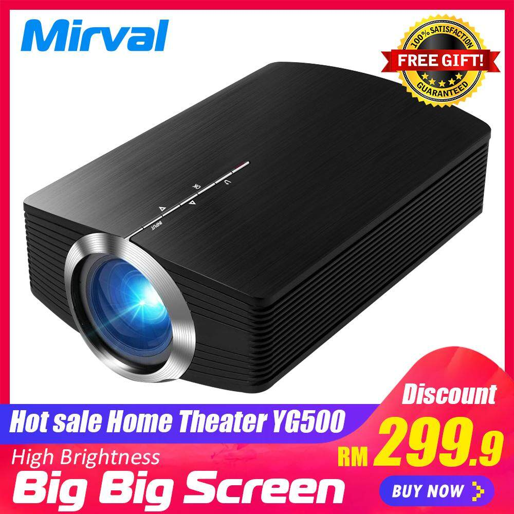 Mirval Yg500 Portable Mini Led Projector Pico Lcd Classroom Office Proyector Hd High Brightness 1800 Lumens Home Theater By Mirval Official Store.