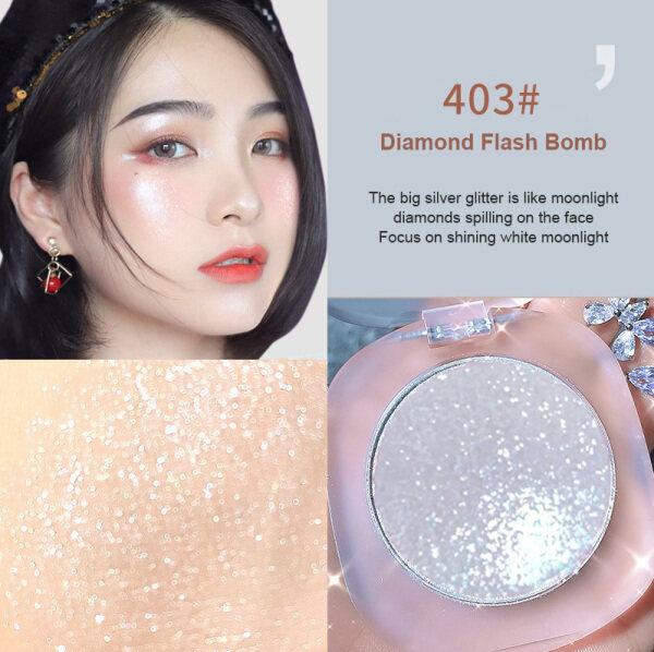 【Keepyoung】WODWOD Make-Up Highlighter Bột Bảng Màu Tạo Khối Lấp Lánh Bột Khoai Tây Lấp Lánh Độ Bóng Cao Tất Cả Trong Một, Trang Điểm Tự Nhiên