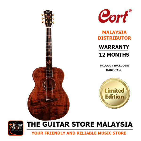 Cort OM-LE Limited Edition Full Solid Premium Acoustic Guitar LR Baggs Anthem Preamp Pickup EQ With Hard Case Malaysia