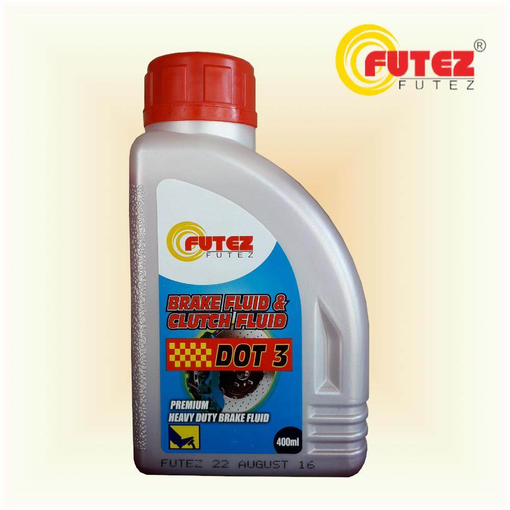 Futez Premium Heavy Duty DOT 3 Brake Fluid & Clutch Fluid 400ml (Red Colour)