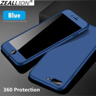 Ốp Zeallion Cho Apple iPhone X XS Max XR 5 5s 6 6S 7 8 Plus 360 Ốp Bảo Vệ Toàn Thân Lai PC Cứng + Quà Tặng Kính Cường Lực thumbnail