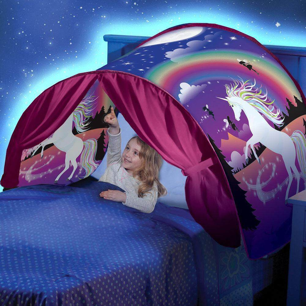 Meiyang Kids Dream Tents Baby Pop Up Bed Tent Unicorn Foldable Playhouse Night Sleeping By Meiyang.