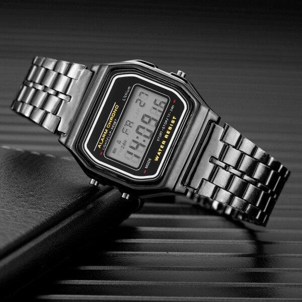 Luxury Branded Womens Watch Electronic Clock Metal Alloy Watchband Women Wrist Watches Sports tal Wristwatch Montre Femme Malaysia