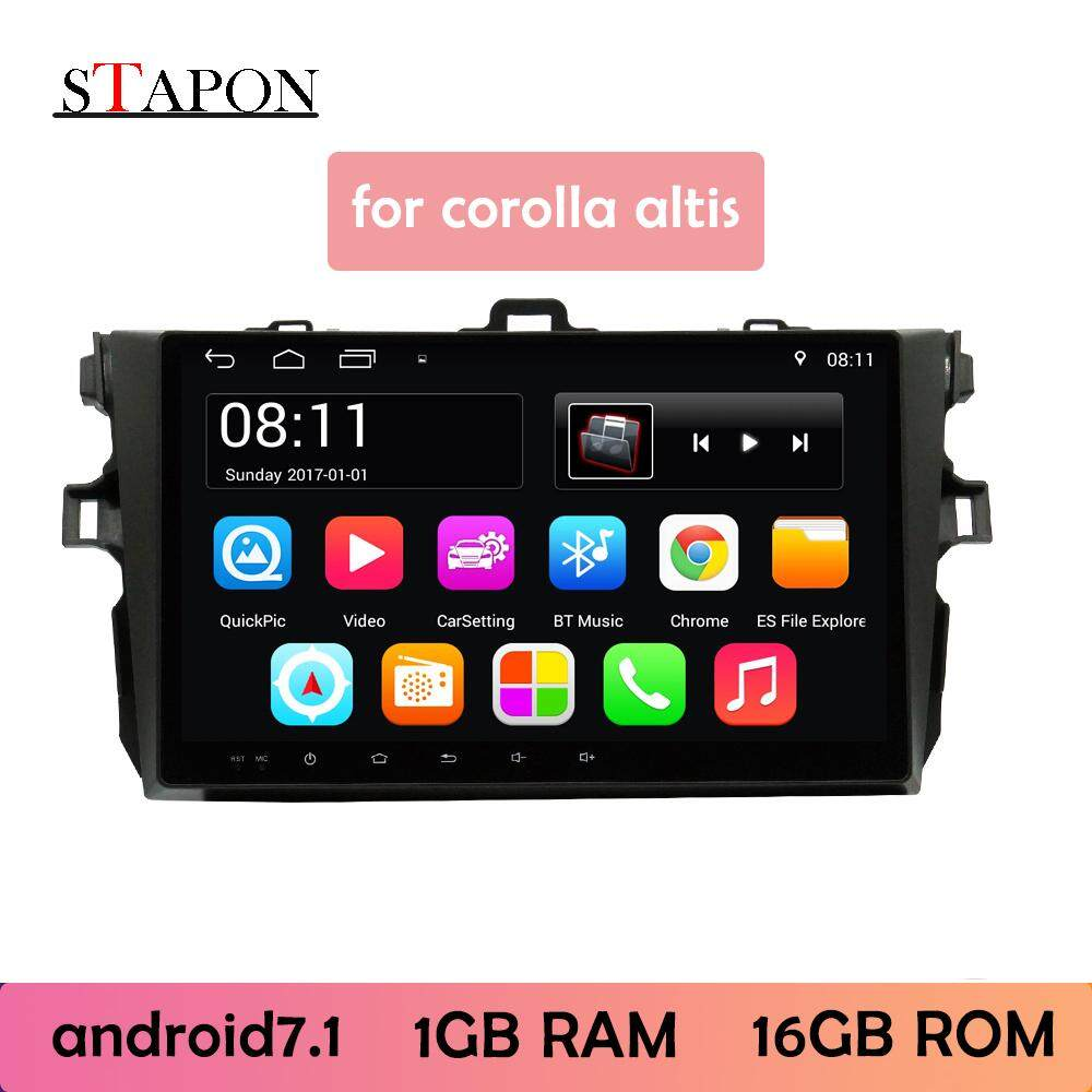 Stapon 9inch 2.5d For2007-2013 Corolla Android7.1 Car Head Unit Plug And Play Multimedia Player With Wifi Bluetooth Gps Steering Wheel Control Rear View Mirror Link 900a By Stapon Electronic Store.