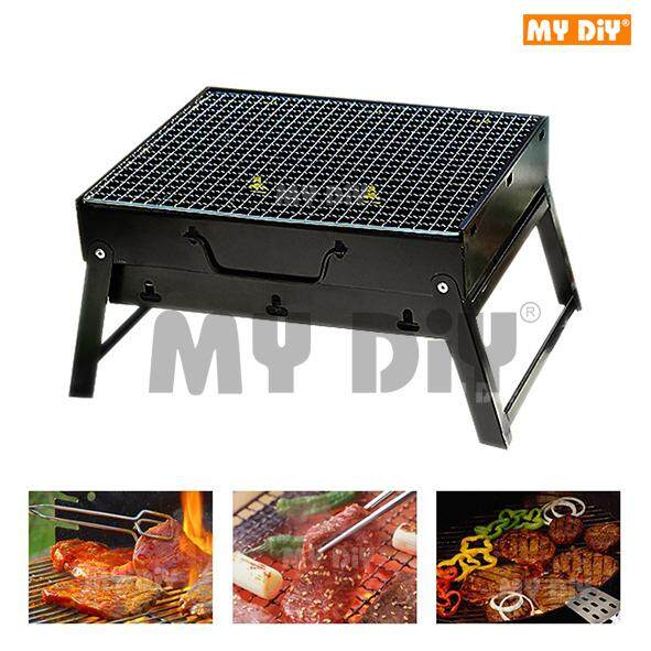 MYDIYSDNBHD - BBQ Grill Folding Charcoal Picnic For Barbecue Camping & Outdoor