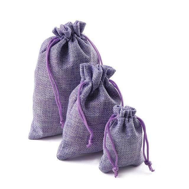 1pcs Christmas bag Linen Jute Sack Pouch Drawstring Gift Bags