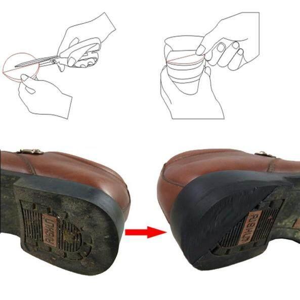 Footful 2 Cặp Keo Dán Trên Đầu Gót Chân, Sửa Chữa Giày Đế Cao Su Dày, 5Mm + Trung Bình 6Mm Lớn giá rẻ