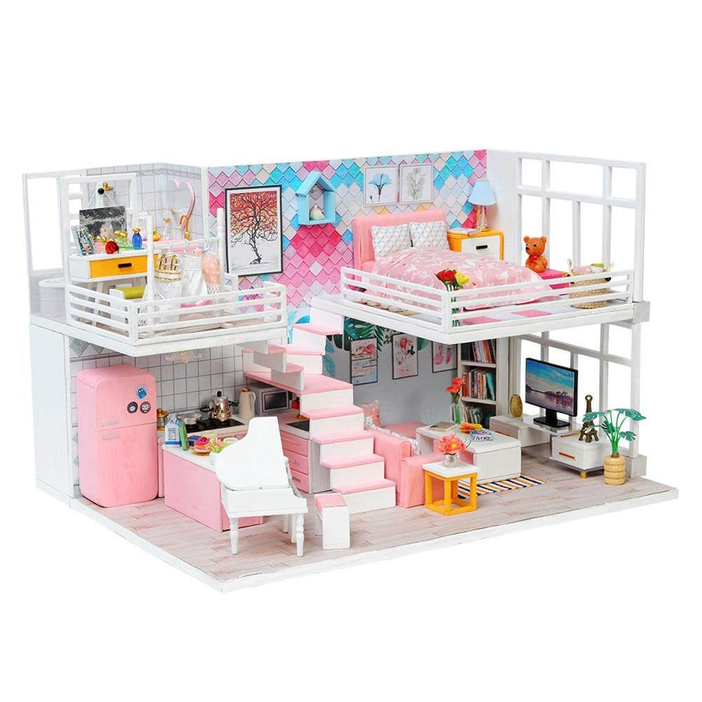 Ryt Indah Diary Diy Kabin K-040 Buatan Tangan Villa Model Inovatif Rumah -rumahan 1d3ed73eb2