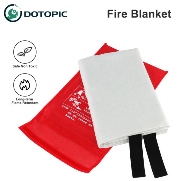 DoTopic Fire Blanket Fire Suppression Blanket Emergency Fire Blanket Fire Retardant Blankets, Fiberglass 1.2m x 1.2m Fire Safety Blanket for Fire Emergency