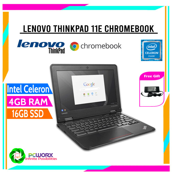 Lenovo 11.6, ThinkPad 11e Chromebook 20Du, 4 GB RAM, 16 GB SSD, Intel HD , Black Intel Celeron N2930 Malaysia