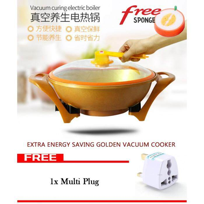 1pc Sponge Non-Stick Electric Vacuum Steamboat Grill Cooker Cookware Pot By Kurikkuhouz.