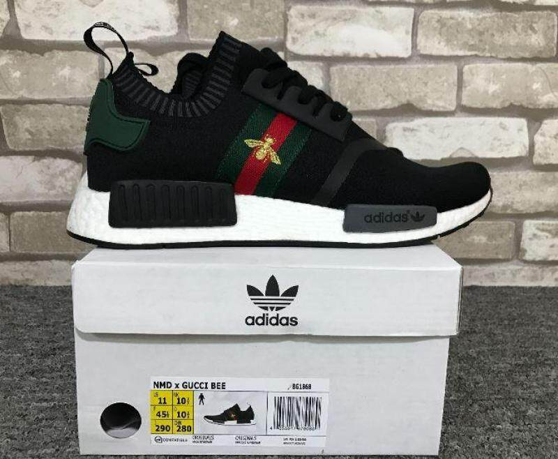 Adidas_Shoes NMD_x Guccci Bee Black Sneakers Sport Shoes