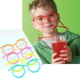 Houseeker Ống hút kiểu kính đeo thiết kế linh hoạt cực độc đáo cho các bé khi đi tiệc - INTL thumbnail