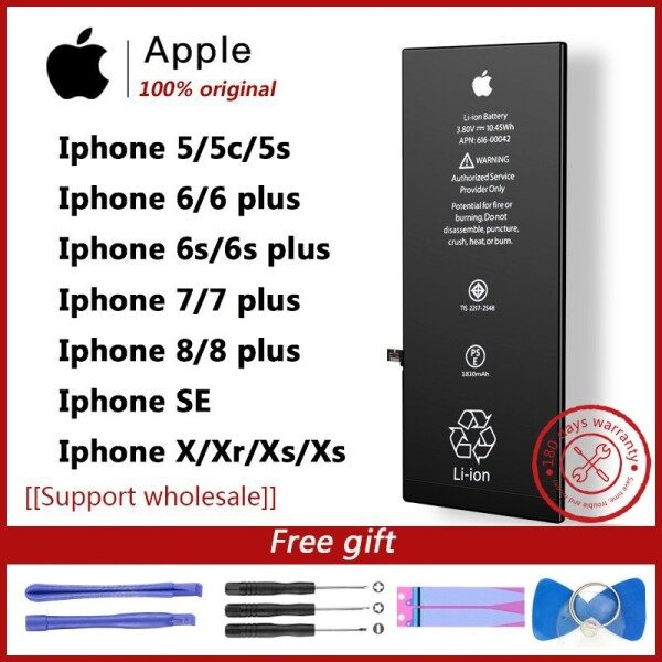 100% original Batteries for iphone 5/iphone5s/iphone 6/iphone 6s/iPhone 7 /iPhone 7 plus battery iphone X...iphone Xs Malaysia