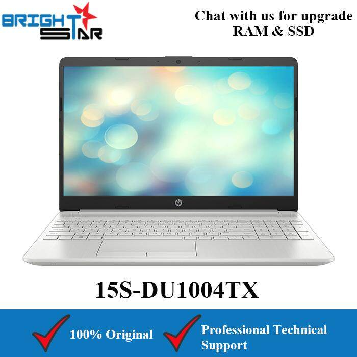 HP 15S-DU1004TX Silver (Intel I5-10210U/4GB/512GB SSD/MX130 2GB/15.6inch) Malaysia