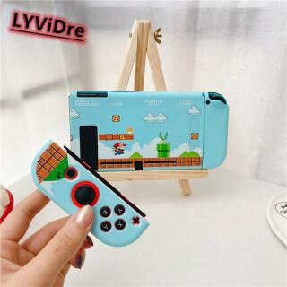 LYViDre Ốp Lưng Nintendo Switch Phụ Kiện Cho Nintendo Switch Vỏ Bọc Hoạt Hình Nitendo Switch NS, Ốp Lưng Nintendo Switch TPU Mềm Hình Nấm Trò Chơi Super Mario Có Thể Tháo Rời Xử Lý thumbnail