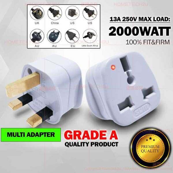 SUM Universal Adapter Adaptor China Plug 2 Pin to 3 Pin Plug converter Multi Plug Travel Adapter 13A 中国插头 萬能插頭