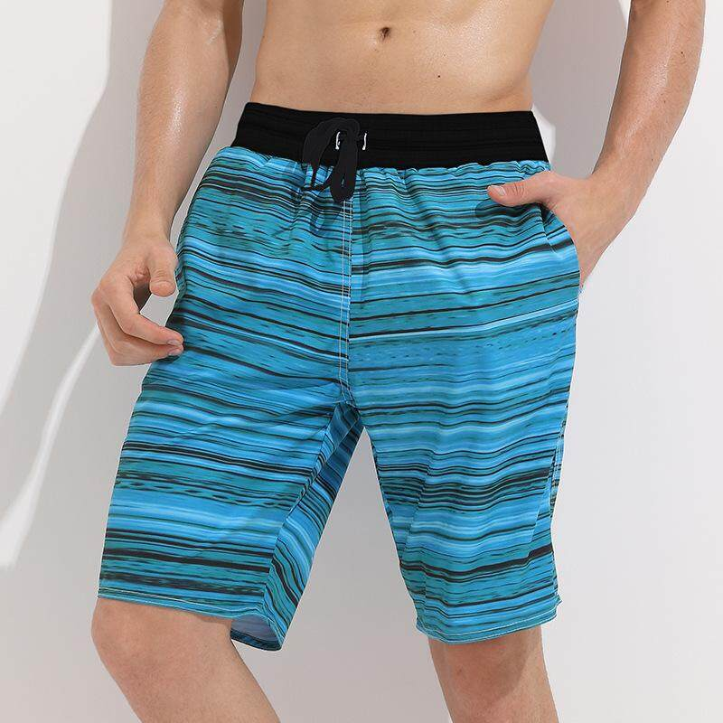 112ab99a36233 Men's Short Loose Large Size Quick-drying Beach Pants Male Hot Spring Swimming  Trunks Beach