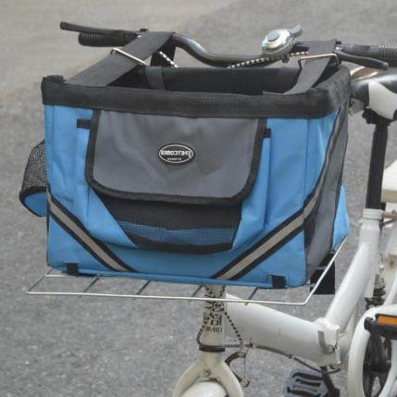 Pet xe đạp Túi du lịch Giỏ xe Mèo Túi chó cưỡi Túi xe đạp-màu xanh