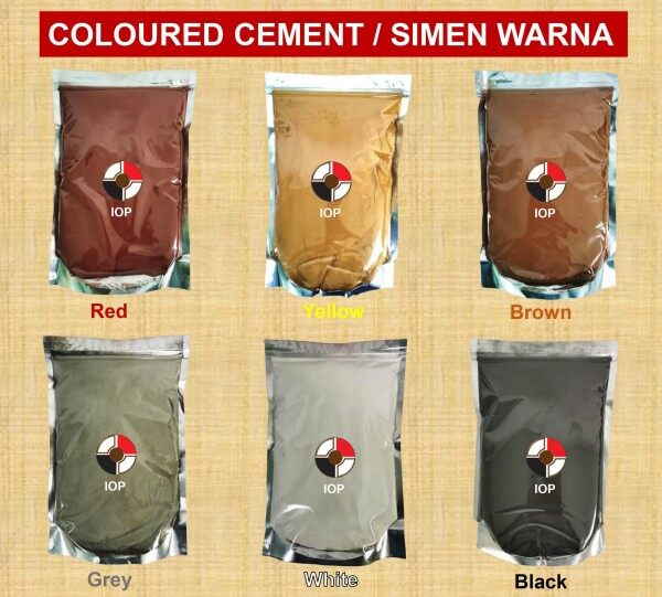 (2KG) Simen Warna / Color Cement / Coloured Cement Decoration & Renovation (Black/Yellow/Red/Brown/Grey/White)