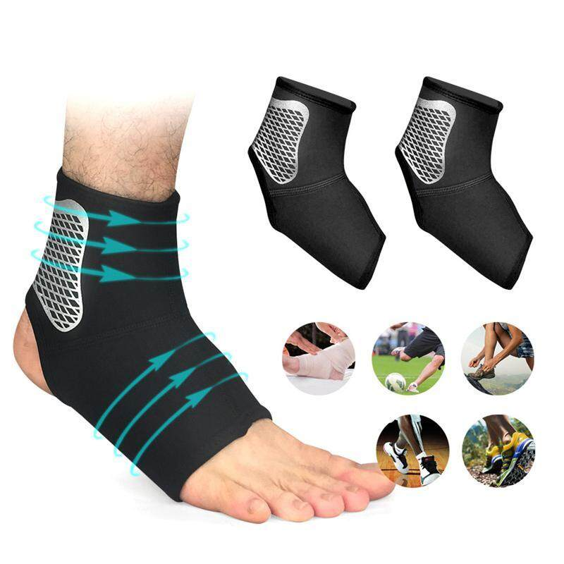 OutFlety Ankle Compression Sleeve, 1 Pair Elastic Breathable Opening Ankle Support Guard Socks For Ankle