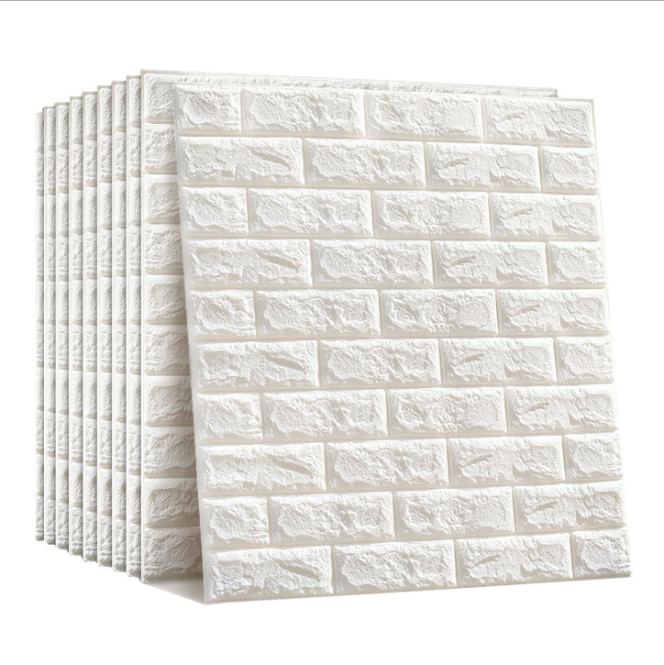 Environmental protection 3d three-dimensional wall tile foam kindergarten anti-collision soft bag waterproof moisture-proof dormitory sticker wallpaper self-adhesive