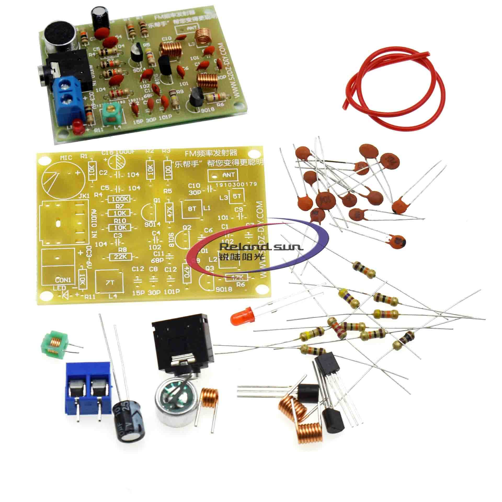 DIY Kit 88-108MHz FM Transmitter Frequency Modulation Wireless Microphone Suit