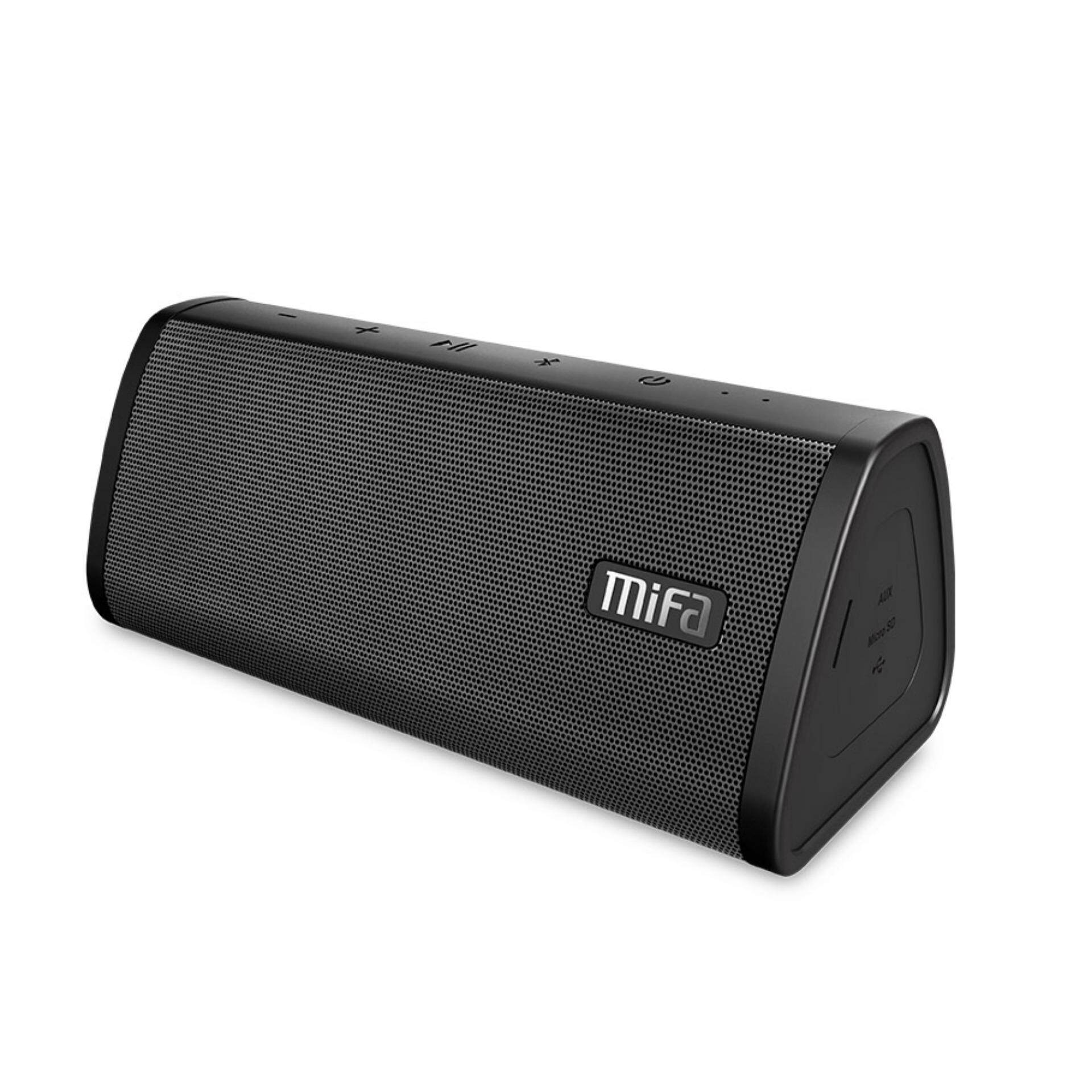 [24 Month Warranty]mifa A10 Wireless Bluetooth Speaker, 16-Hour Playtime, Ip45 Dustproof & Water-Resistant, 10w Rated Power Hd Stereo Sound & Enhanced Bass, Support Tws, Built-In Mic, Micro Sd Card Slot(black) By Mifa Store.