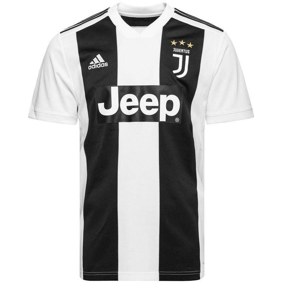 14e1a26666c Juventus Home Jersey 18 19 White Black Stripes Serie A for Men Women