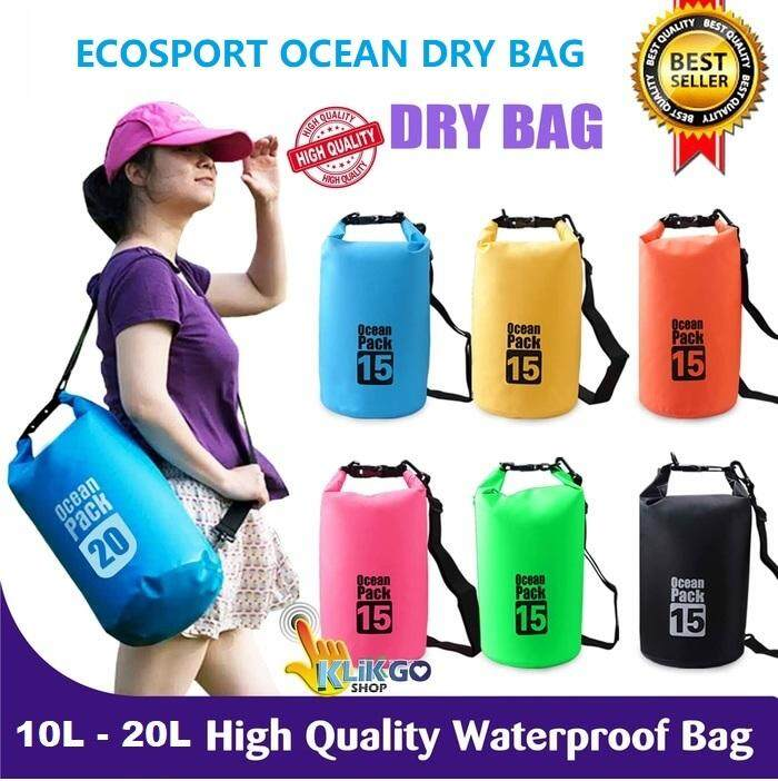 EcoSport 2L / 5L / 10L /15L / 20L Ocean Dry Bag Waterproof Diving ...