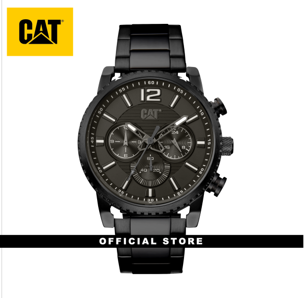 CAT NP DATE MULTI NP-169-16-531 BLACK STAINLESS STEEL STRAP MEN WATCH Malaysia