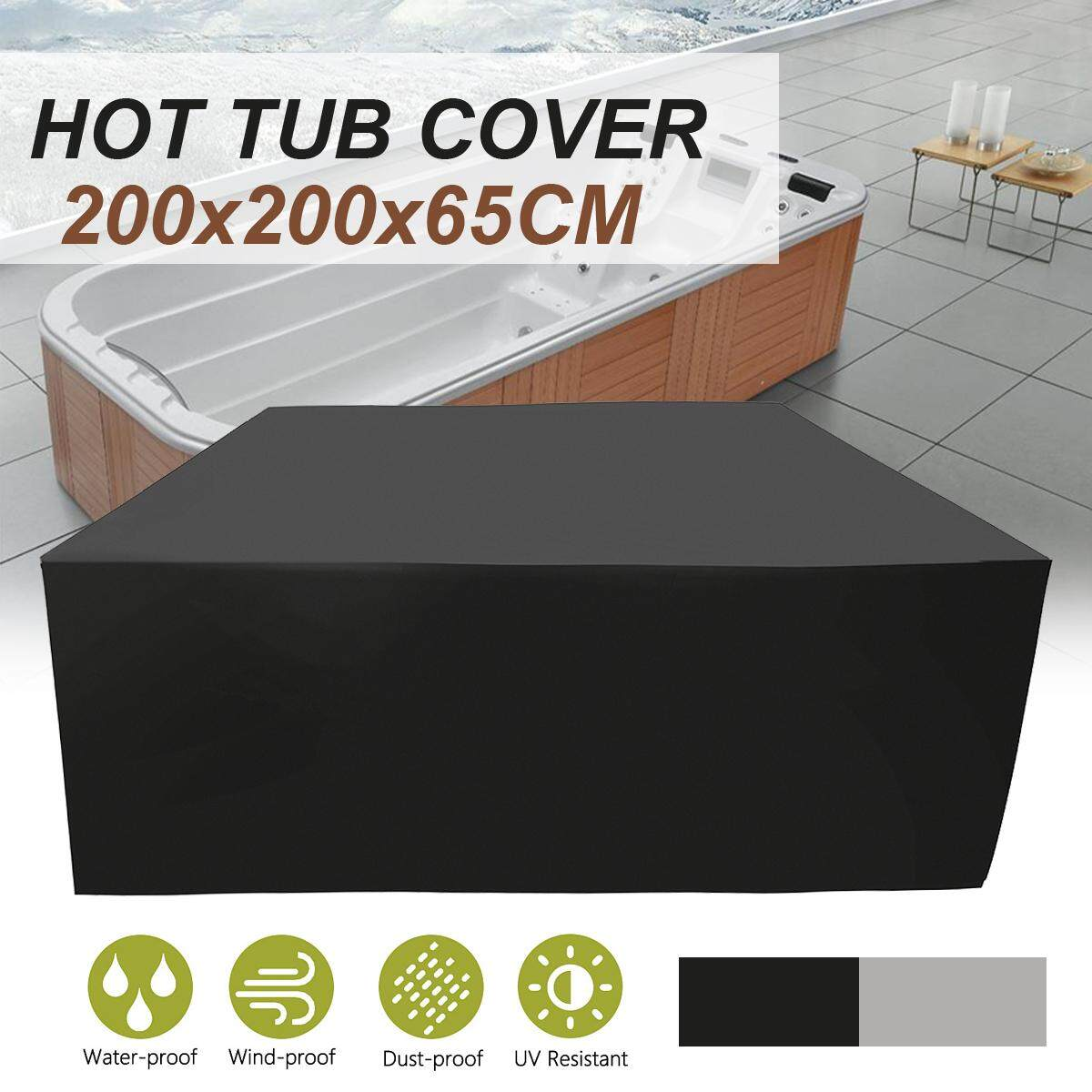 80x80x25 Outdoors Spa Hot Tub Cover Waterproof Furniture Garden Protector New