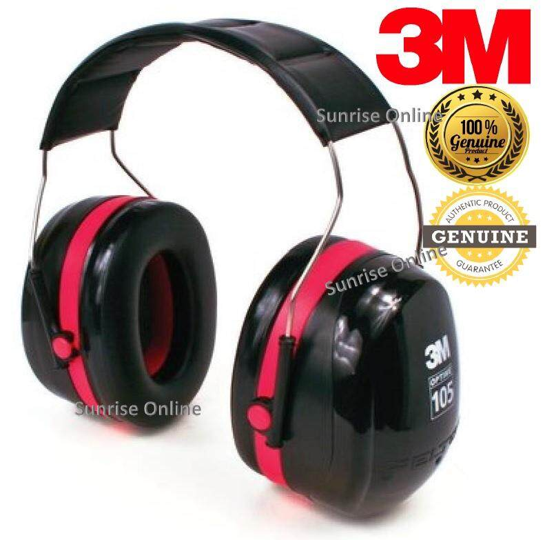 3M PELTOR OPTIME 105 H10A OVER THE HEAD DUAL CUP EARMUFF (1 SET) [Noise Reduction Rating (NRR) of 30 dB]