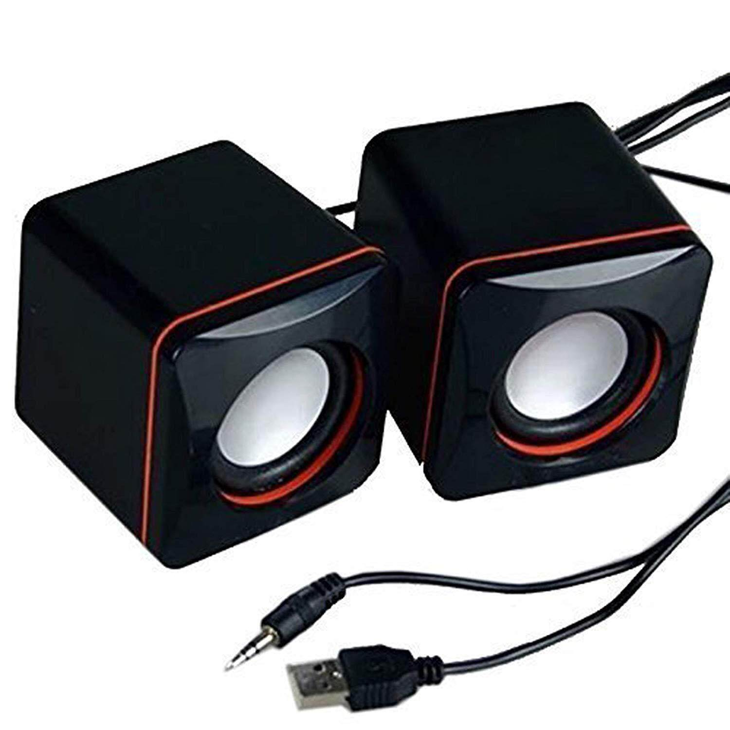 Portable Computer Speakers USB Powered Desktop Mini Speaker Bass Sound Music Player System Wired Small Speaker Malaysia