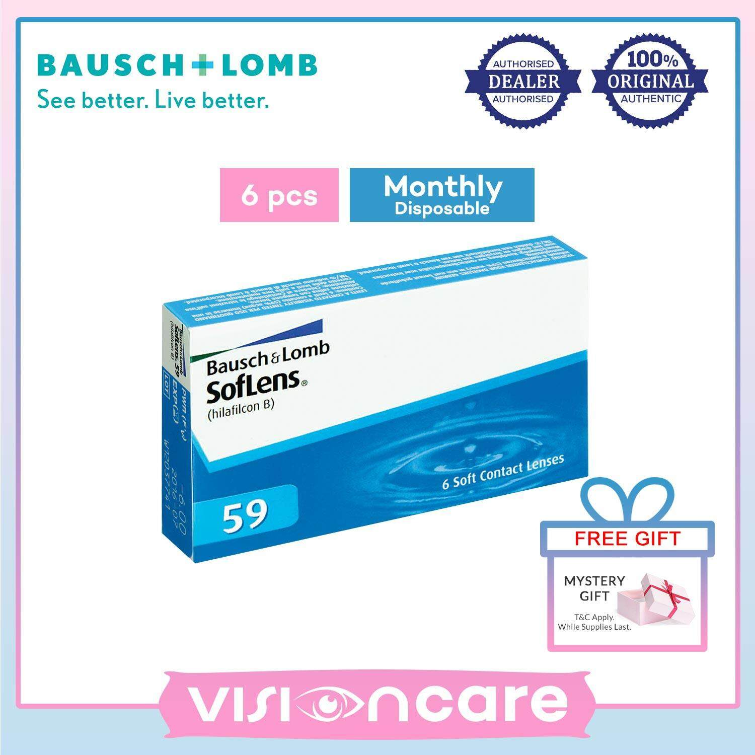 Bausch & Lomb SofLens 59 Monthly Contact Lenses