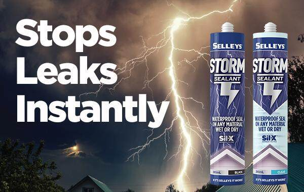 Selleys Storm Sealant Waterproof Silicone Sealant Outdoor Awning Silicone 290ml Wet Area Fast Seal
