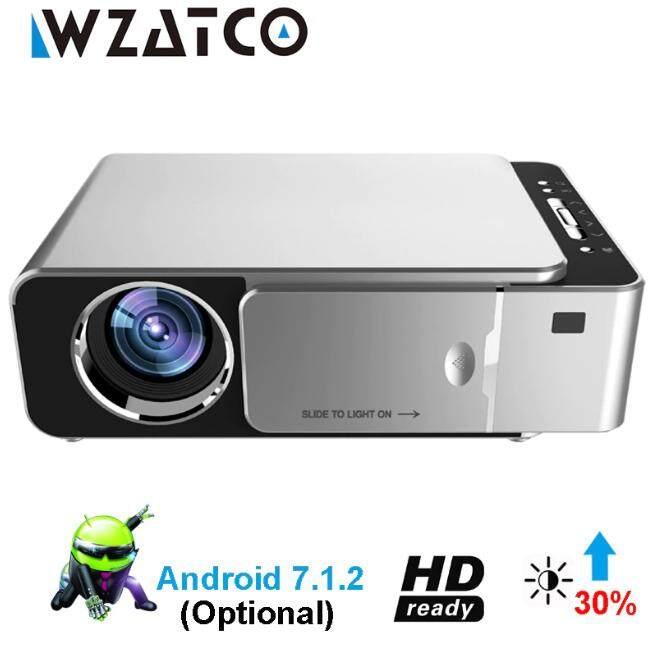T6 3500 ANSI Lumens 1080 P Teknologi LCD MinI Portabel HD Proyektor Bioskop, Dukungan WiFi, HDMI, AV, VGA, USB