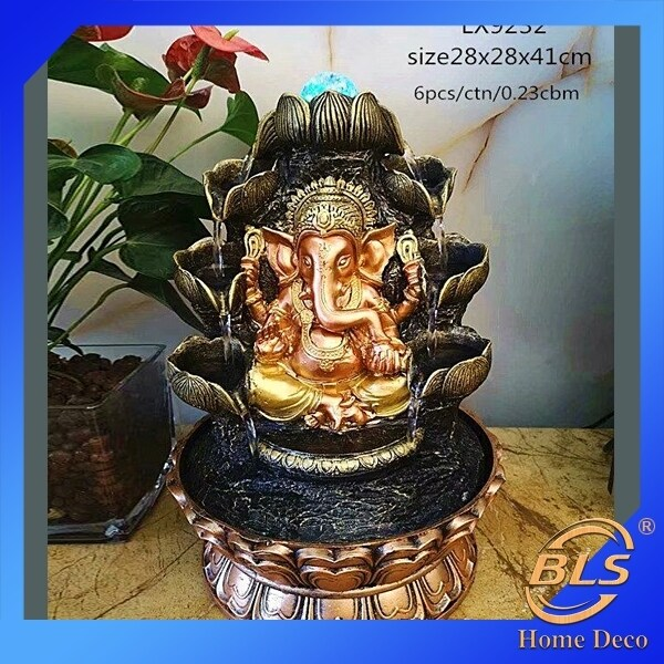 WATER FOUNTAIN GANESHA LX9232 WATER FEATURE FENG SHUI HOME DECORATION