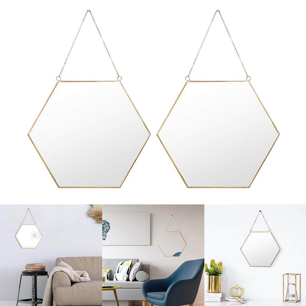 Fityle Vanity Mirror Hollywood Makeup Mirror Room Swing Mirror - for Dressup 2Pcs c