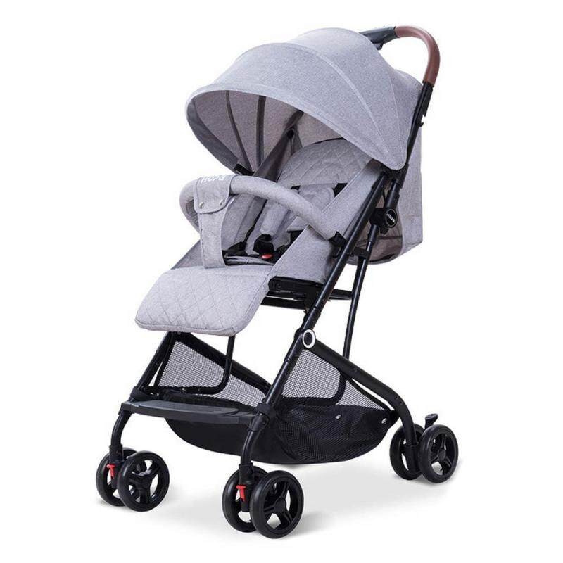 Pawaca Premium Ultralight Weight Enhanced Foldable Stroller Easy Clean Comfortable Open Roof Breaklock 4 Wheels Traveler Choice Singapore