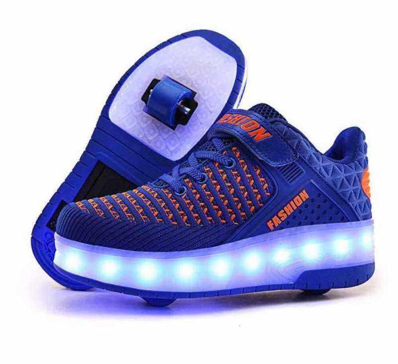 Phân phối Đèn Sạc Led Giày Trẻ Em/Người Lớn Heely Giày Bánh Xe Đôi Giày Trượt Patin