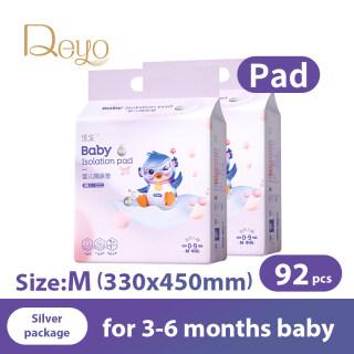 Đệm chống thấm Deyo Miếng đệm lót Tấm lót thay tã dùng một lần cho bé Tấm lót ban đêm cho bé (Gói Bạc Đôi thumbnail