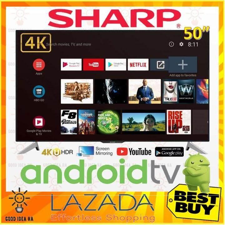 Sharp Aquos 50 4K UHD SMART Android TV ( LC50UA6800X )