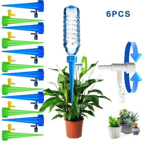 [FREE SHIPPING+Flexi Combo]L-Sweet 6/12Pcs Vacation Waterer Plant Self Watering Spikes Plant Automatic Watering Devices Adjustable Water Volume Drip System